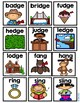Ending Diagraphs - Picture Cards for Small Pocket Charts