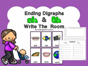 Ending Digraphs Sh And Th Write The Room