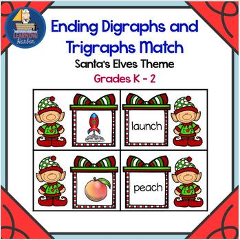 Ending Digraphs and Trigraphs Match Santa Elves Theme