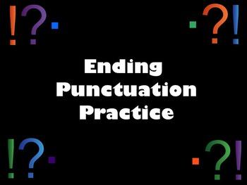 Ending Punctuation SMART Notebook Lesson