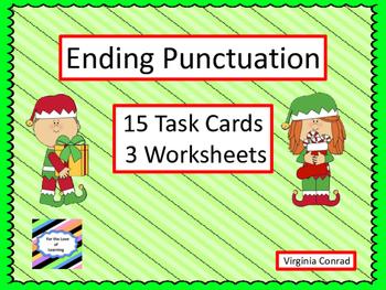 Ending Punctutation -- Task Cards and Worksheets -- Christ