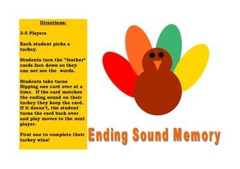 Ending Sound Memory Game