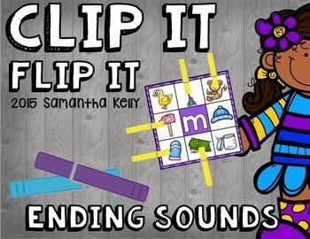 Ending Sounds Clip and Flip Station