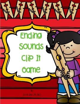 Ending Sounds Clip It Game