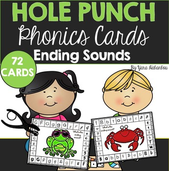 Ending Sounds Hole Punch Cards {72 Cards}