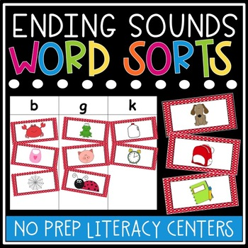 Ending Sounds Sorts and Worksheets