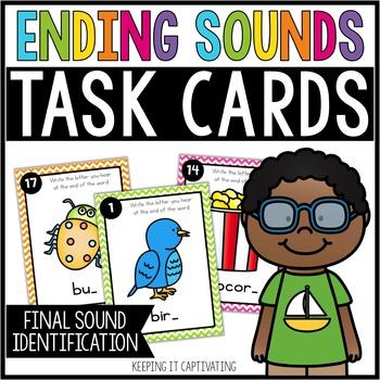 Ending Sounds Task Cards {Final Sound Identification}