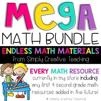 Endless Math Resources Bundle for 1st & 2nd Grade