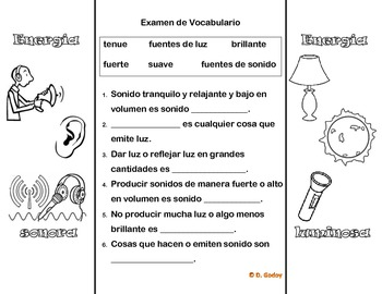 Energia luminosa y energia sonora plegable/ Spanish foldable