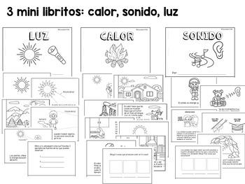 Energía: mini libritos (luz, calor, sonido)