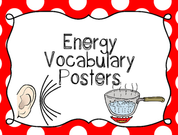 Energy Vocabulary Posters {Word Wall Printable}