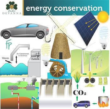 Energy Conservation Clip Art