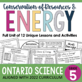 Gr. 5 - Conservation of Energy Unit