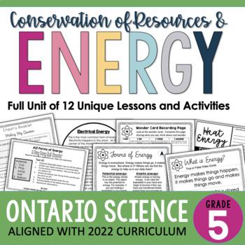 Gr. 5 - Conservation of Energy Unit