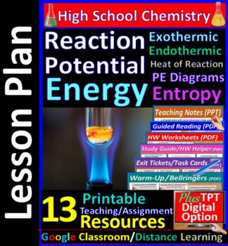 Energy (Heat) Change in Reactions; Exothermic..- Worksheet