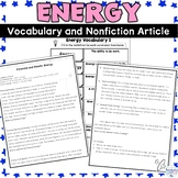Energy Nonfiction Article and Activity