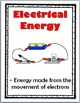 Energy Science Word Wall Posters - Energy Vocabulary - Sci
