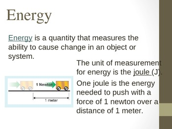 Energy Power Point - Includes Potential and Kinetic