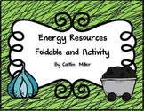 Energy Resources Foldable and Activity for Interactive Notebooks