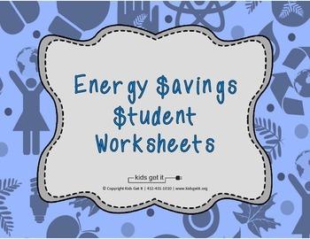 Energy Savings Student Worksheets