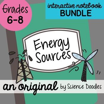 Energy Sources Science Doodles Interactive Notebook Bundle