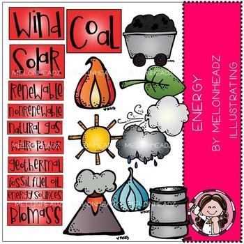 Melonheadz: Energy Sources clip art - COMBO PACK