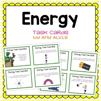 Energy Task Cards - SCOOT - Potential - Kinetic - Transformations