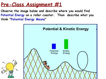 Energy Transformations - Potential Energy w/Worksheet (SMA