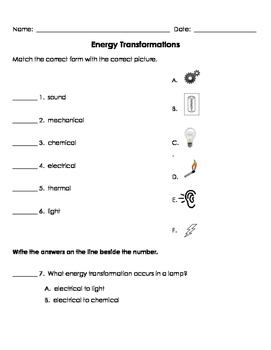 Energy Transformations WS MOD