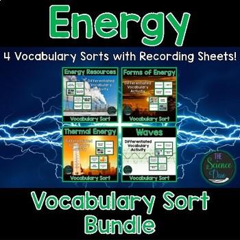 Energy Vocabulary Sort Bundle