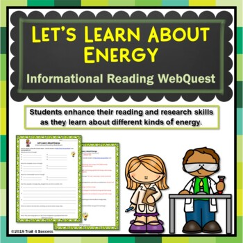 Energy Webquest Scavenger Hunt Activity Informational Text