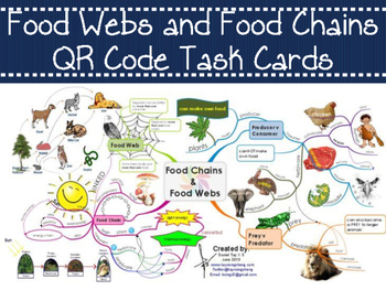 Food Webs and Food Chains QR Code Task Cards