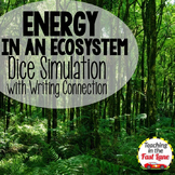 Energy in an Ecosystem Dice Simulation with Writing Connection