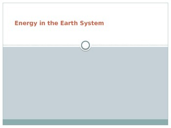 Energy in the Earth's System