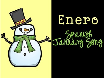 Enero Spanish January Song {Canción en español}