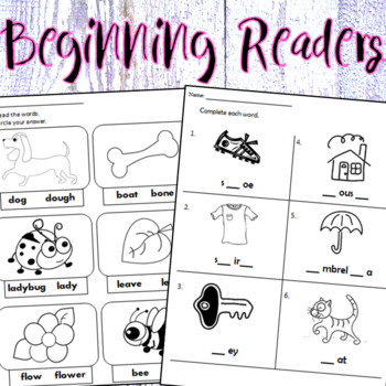 Eng/Span. -  Beginning Readers - Worksheets & Mini Workbooks