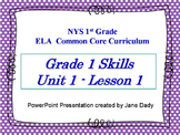 Engage NY 1st Grade NYS ELA Common Core Unit 1 Lesson 1