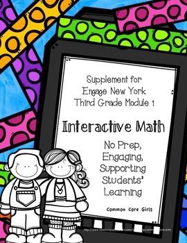 Engage NY 3rd Grade Math Module 1 Notebook: No Prep, Effic