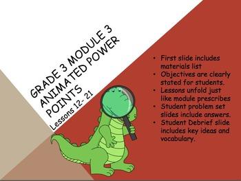 Engage NY 3rd Grade Module 3 Lessons 12-21 3.OA.5 Multipli