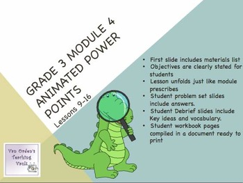 Engage NY 3rd Grade Module 4 Lessons 9- 16 3.MD.5 Multipli