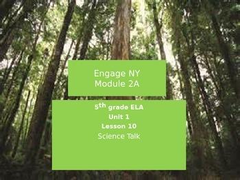 Engage NY 5th grade ELA Module 2A Unit 1 Lesson 10