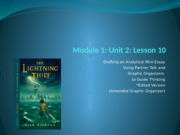 Engage NY ELA Grade 6 Module 1 Unit 2 Lesson 10--The Light