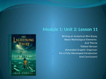 Engage NY ELA Grade 6 Module 1 Unit 2 Lesson 11--The Light