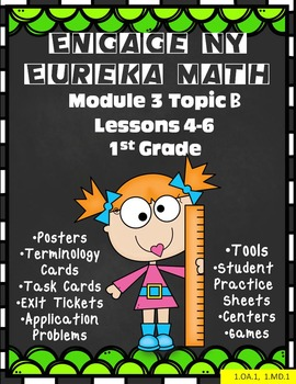 Engage NY {Eureka} Math 1st Grade Module 3 Topic B Lessons 4-6