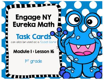 Engage NY Eureka Math (1st grade) Module 1 Lesson 16 Task Cards