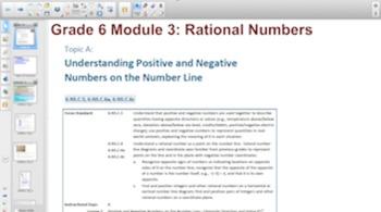 Engage NY Eureka Math 6th Grade Math Module 3 Topic A for