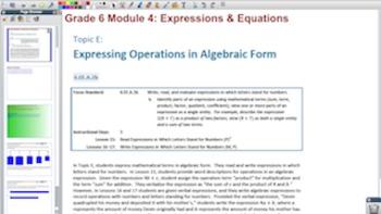 Engage NY Eureka Math 6th Grade Math Module 4 Topic E for
