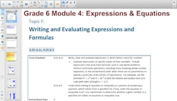 Engage NY Eureka Math 6th Grade Math Module 4 Topic F for