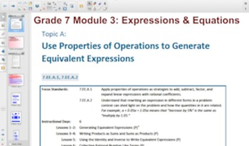 Engage NY Eureka Math 7th Grade Math Module 3 for Smartboards
