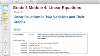 Engage NY Eureka Math 8th Grade Math Module 4 Topic B for